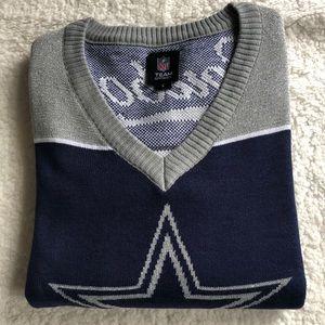 NFL Team Apparel Cowboys Women V-neck Sweater